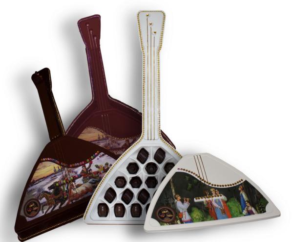 шоколадные конфеты русская балалайка