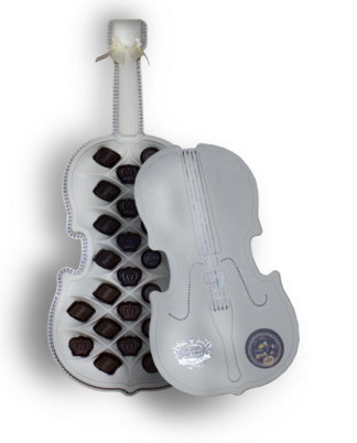 шоколадные конфеты утончённая скрипка белая